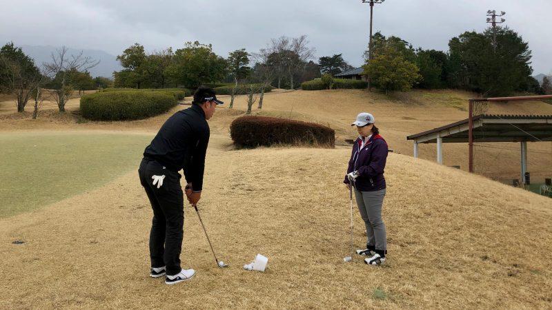 ゴルフレッスンアプローチの写真2