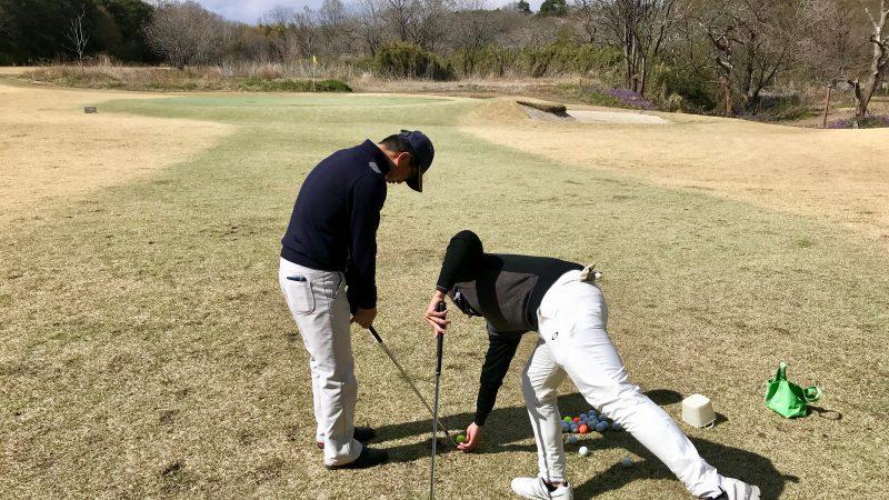 GEN-TENゴルフコースレッスンアプローチのボールポジション