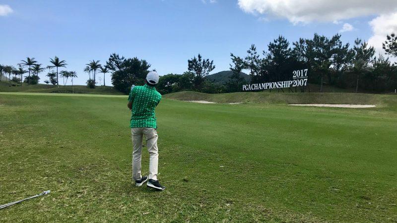 GEN-TENゴルフコースレッスン喜瀬CCアプローチの写真