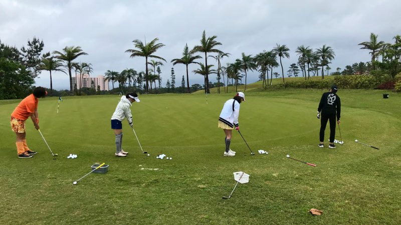 GEN-TENゴルフコースレッスン喜瀬CCアプローチエリアの写真②