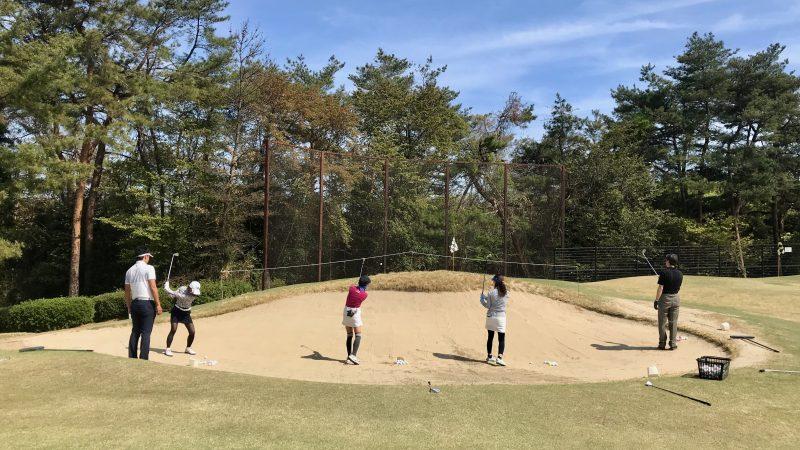 GEN-TENゴルフコースレッスンバンカーショットレッスンの写真①