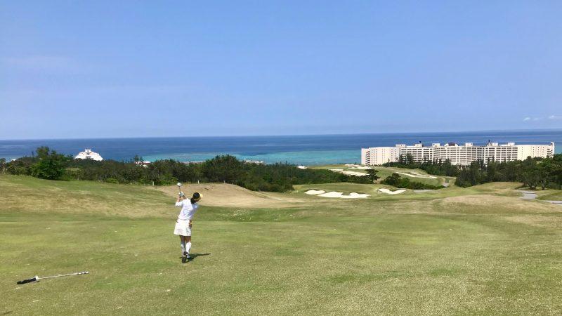 GEN-TENゴルフコースレッスンPGM沖縄セカンドショットの写真