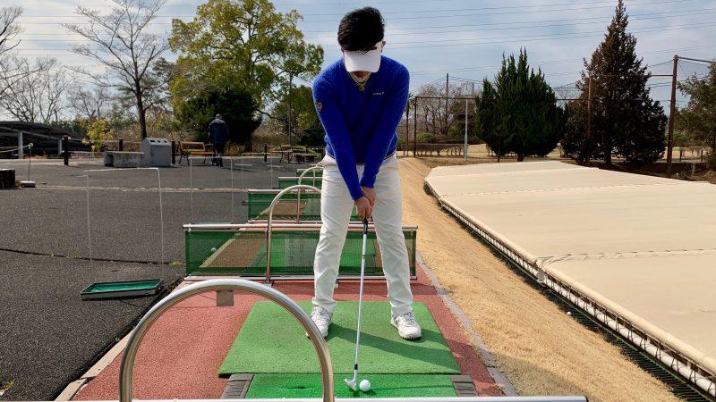 GEN-TENゴルフコースレッスン正しいアドレス正面からの写真