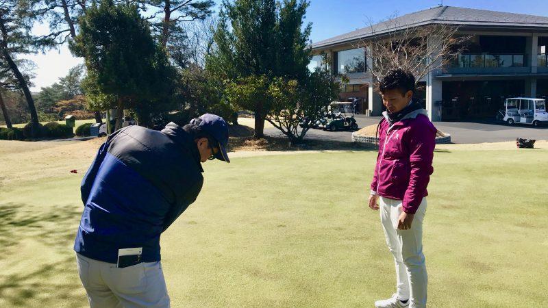 GEN-TENゴルフコースレッスンカウンセリングの様子