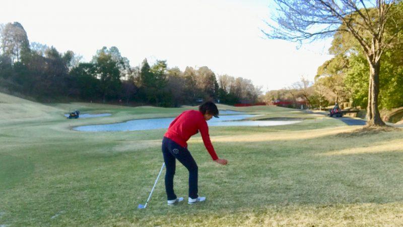 ゴルフコース元の位置からドロップ