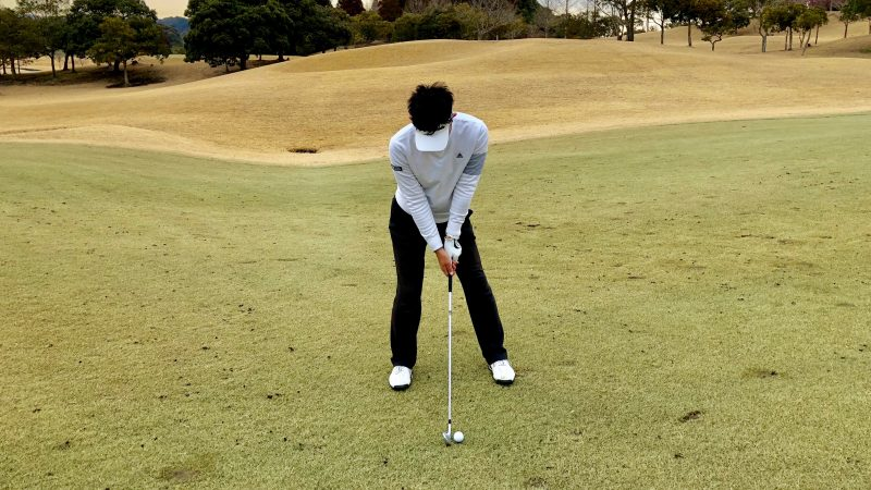 GEN-TENゴルフコースレッスンK字アドレスの写真