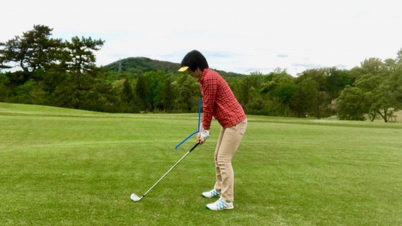 GEN-TENゴルフコースレッスンアドレス前方からの写真