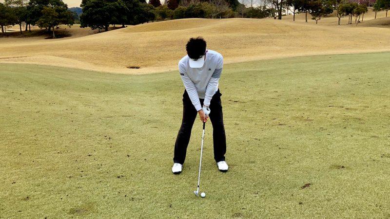 GEN-TENゴルフコースレッスンY字アドレスの写真