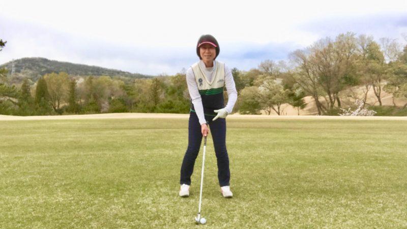 GEN-TENゴルフコースレッスンアドレス正面からの写真