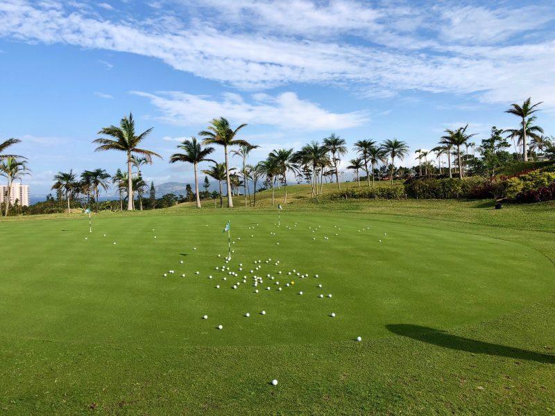 GEN-TENゴルフコースレッスングリーンとボールの写真