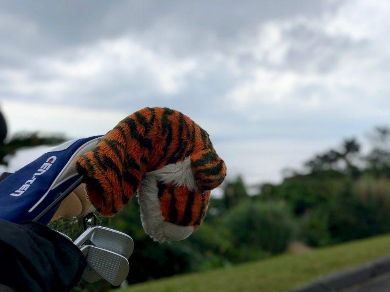 GEN-TENゴルフコースレッスン虎のヘッドカバーの写真