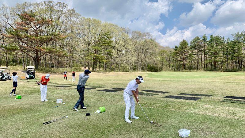 GEN-TENゴルフコースレッスン那須国際CC定点練習40yのアプローチの写真