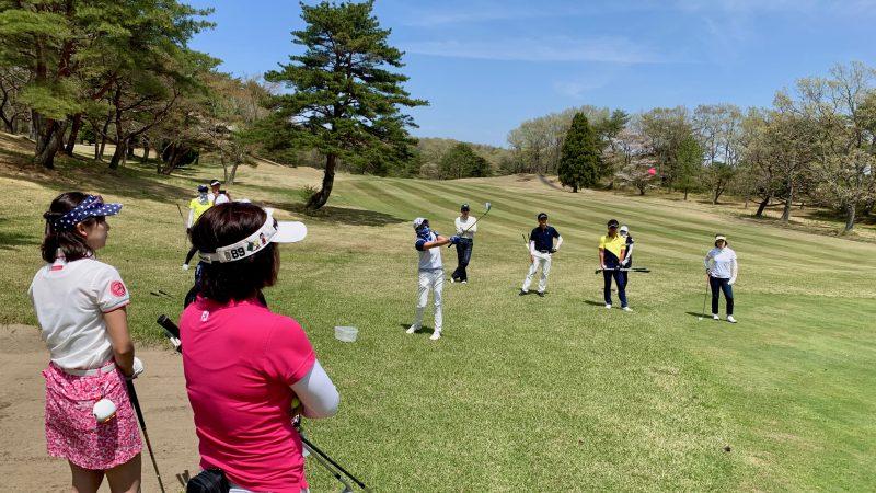 GEN-TENゴルフコースレッスン那須国際CCアプローチ対決の写真⑤