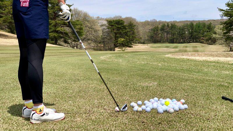 GEN-TENゴルフコースレッスン那須国際CCボールとクラブの写真
