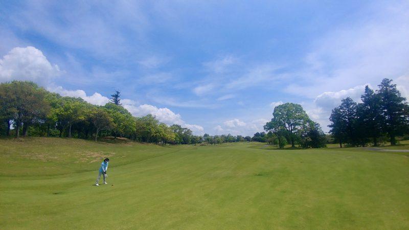 GEN-TENゴルフコースレッスン出島GCセカンドショットの写真