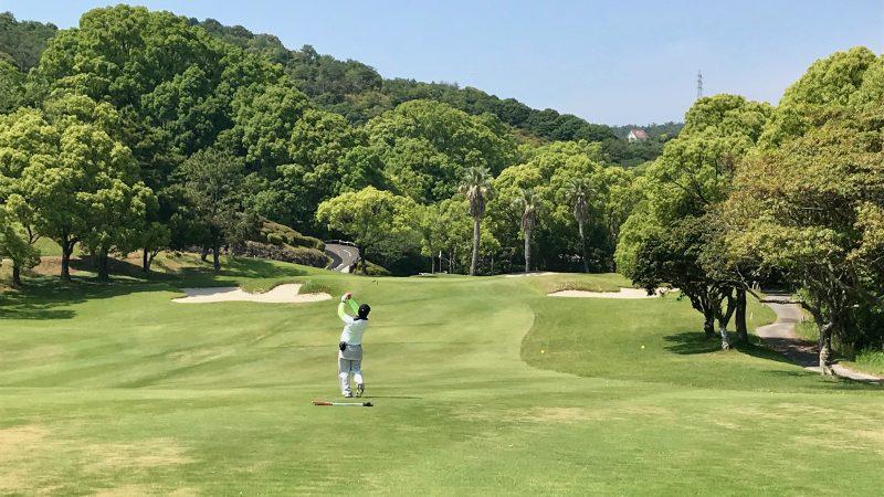 GEN-TENゴルフコースレッスン高知キャンプ土佐CCセカンドショットの写真