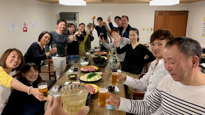 GEN-TENゴルフコースレッスン那須国際CC夕食の写真