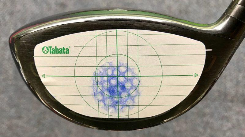 GEN-TENゴルフコースレッスン打点位置打点シールの写真②