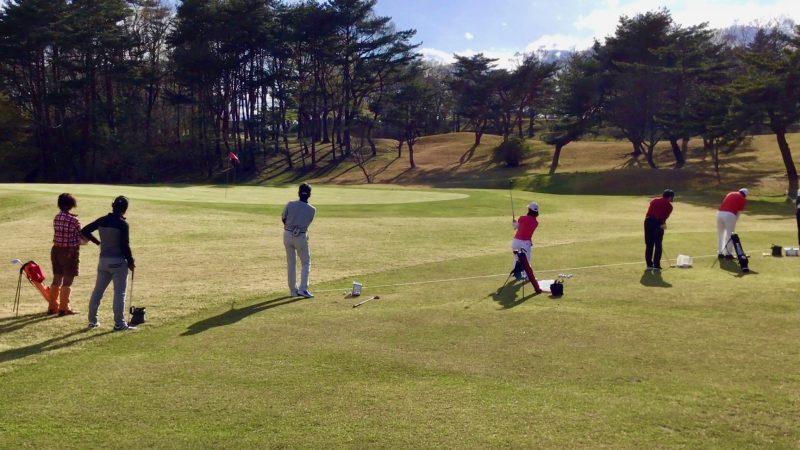 GEN-TENゴルフコースレッスン那須強化合宿2日目アプローチ対決の写真