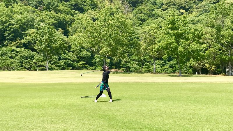GEN-TENゴルフコースレッスン高知キャンプKochi黒潮CCセカンドショットの写真