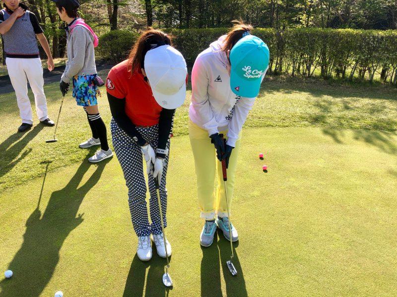 GEN-TENゴルフコースレッスン那須国際CCパッティング練習の写真②