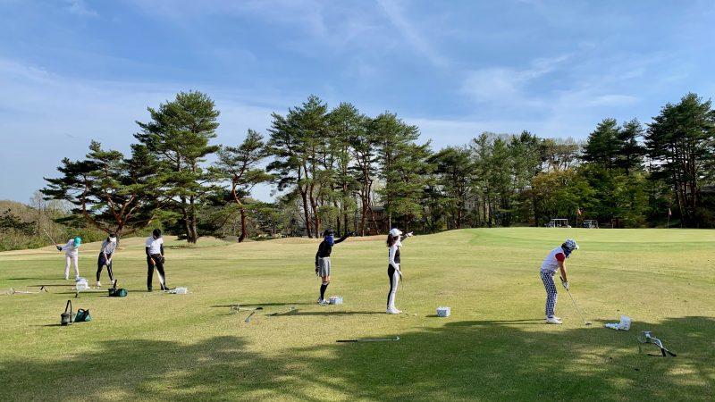 GEN-TENゴルフコースレッスン那須国際CC定点練習50yのアプローチの写真