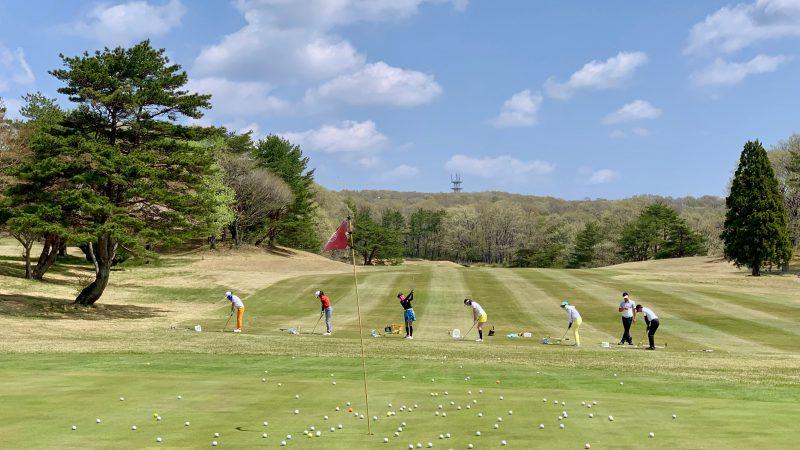 GEN-TENゴルフコースレッスン那須国際CC定点練習45yのアプローチの写真