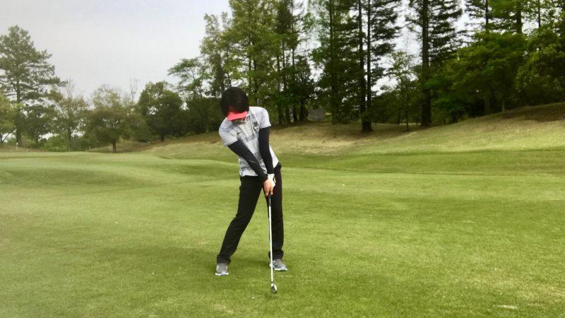 GEN-TENゴルフコースレッスンインパクトの写真
