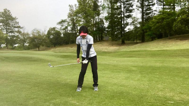 GEN-TENゴルフコースレッスン左腕一本ハーフウェイダウンの写真