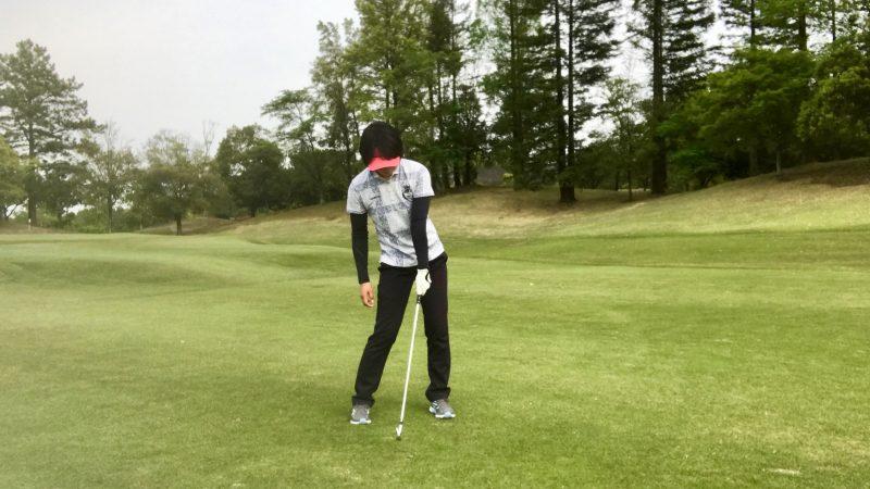 GEN-TENゴルフコースレッスン左腕一本インパクトの写真