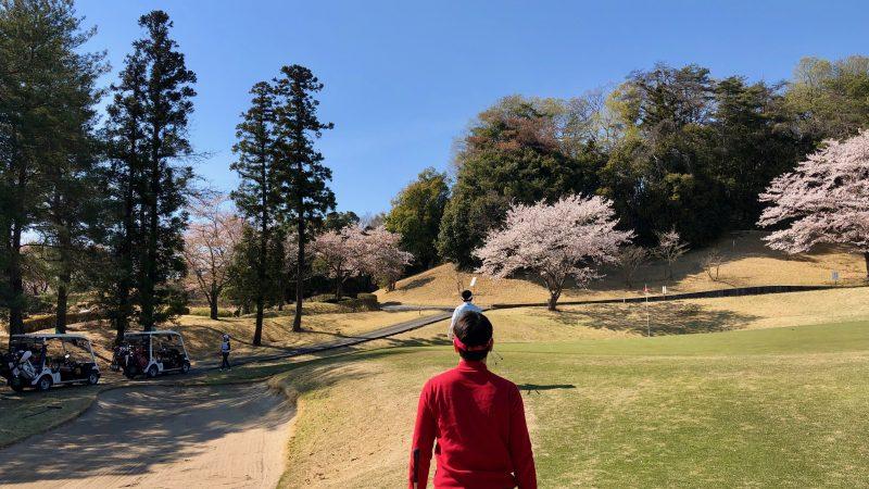 GEN-TENゴルフコースレッスンアカデミアバンカーと桜の写真