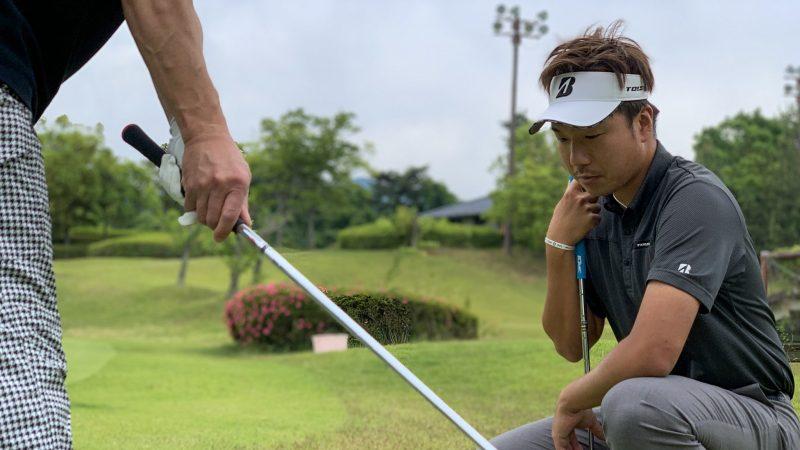 GEN-TENゴルフコースレッスン 松村大輝コーチのレッスンの様子1