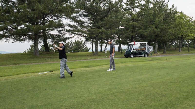GEN-TENゴルフコースレッスン 松村大輝コーチのレッスンの様子8