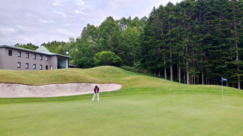 GEN-TENゴルフコースレッスンマオイゴルフリゾートワッカコース9番グリーンの写真
