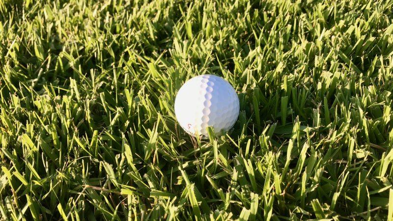 GEN-TENゴルフコースレッスンラフボールが浮いている時の写真