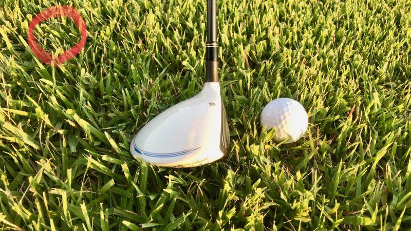 GEN-TENゴルフコースレッスンラフ正しいインパクトの写真