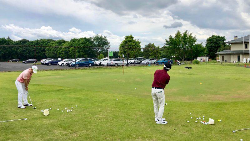 GEN-TENゴルフコースレッスンワンウェイGCアプローチ練習の写真