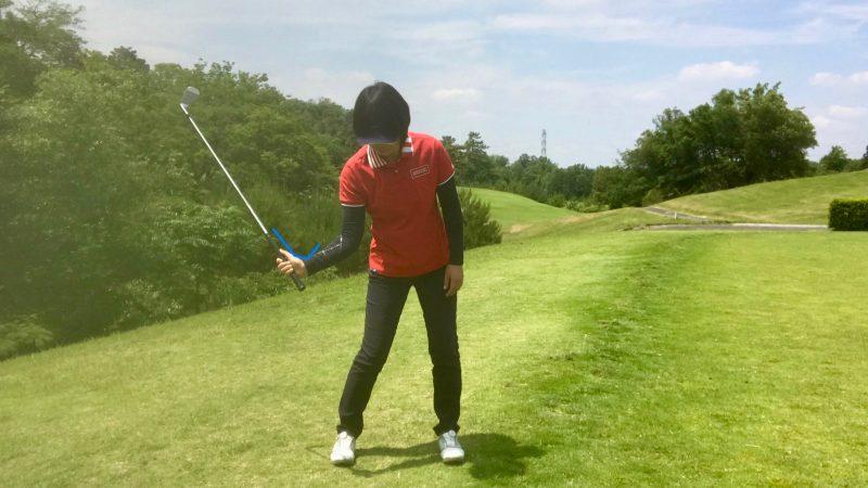 GEN-TENゴルフコースレッスン右手首の使い方ダウンスイングの写真
