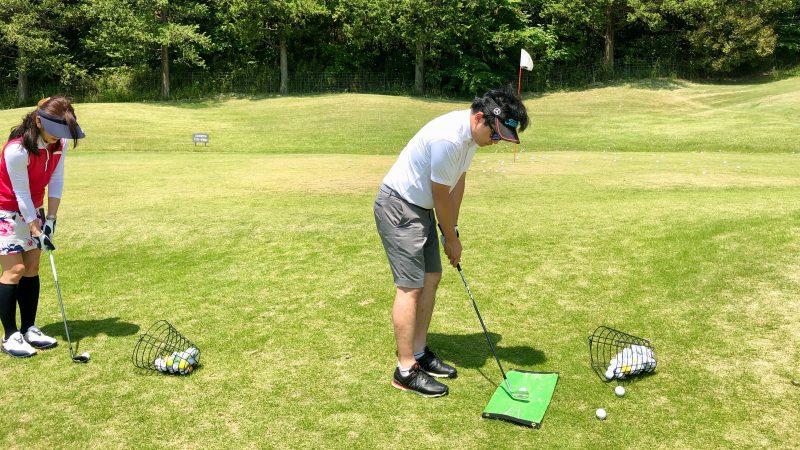 GEN-TENゴルフコースレッスンハーフラウンドアプローチ練習の写真②