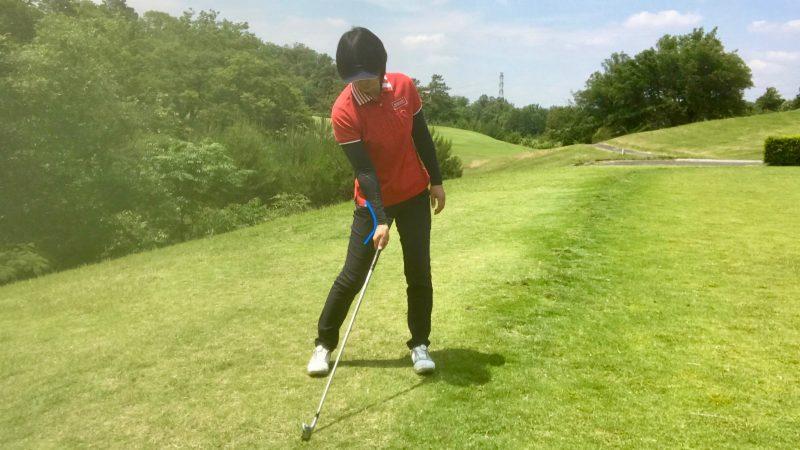 GEN-TENゴルフコースレッスン右手首の使い方インパクトの写真