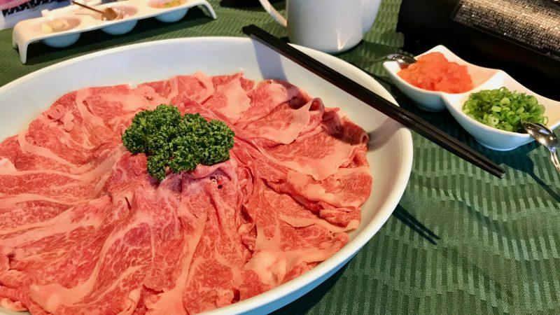 GEN-TENゴルフコースレッスン朝霧CC夕食の写真