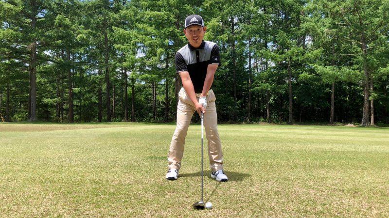 GEN-TENゴルフコースレッスンフェアウェイウッドアドレスの写真