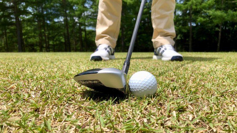GEN-TENゴルフコースレッスンフェアウェイウッドロフトが少ないセットアップの写真