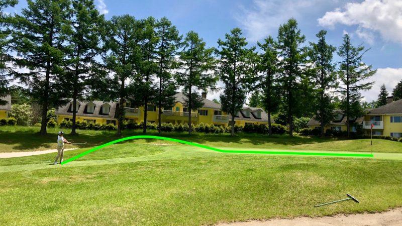 GEN-TENゴルフコースレッスン花道からのアプローチ50度の場合の写真