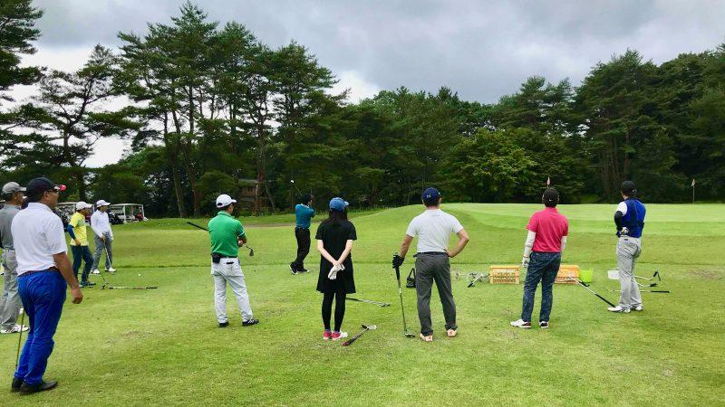 GEN-TENゴルフコースレッスントライフィールドニアピン対決の写真