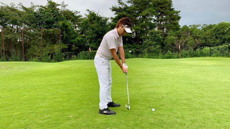 GEN-TENゴルフコースレッスンバックスイングでフェースが開いた写真