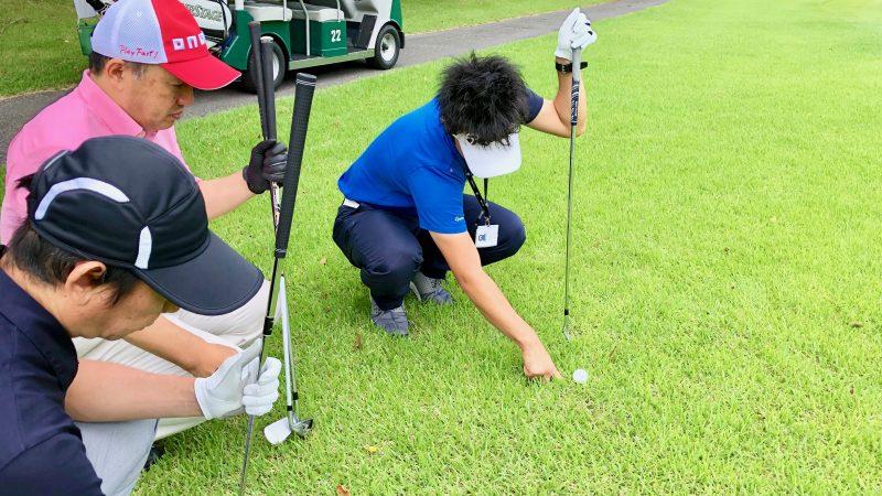 GEN-TENゴルフコースレッスン体験レッスンスラフの説明の写真