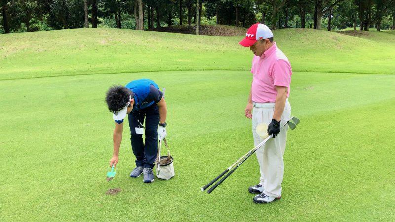 GEN-TENゴルフコースレッスン体験レッスン目土の写真