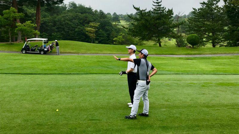 GEN-TENゴルフコースレッスン早朝ハーフ狙い目の説明の写真