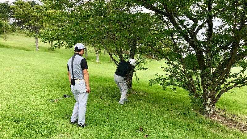 GEN-TENゴルフコースレッスン早朝ハーフトラブルショットの写真